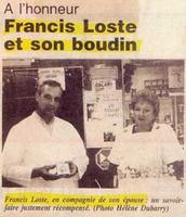 Francis Loste et son boudin
