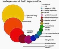 La probabilité des causes de décès aux USA.