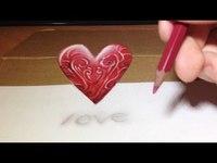 La fabrication d'un cœur en 3D (dessin)