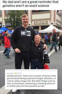 Mon papa et moi, comme quoi la génétique n'est pas une science exacte !