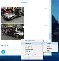 Skype + DeLorean