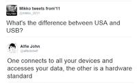 Différence entre USA et USB ?