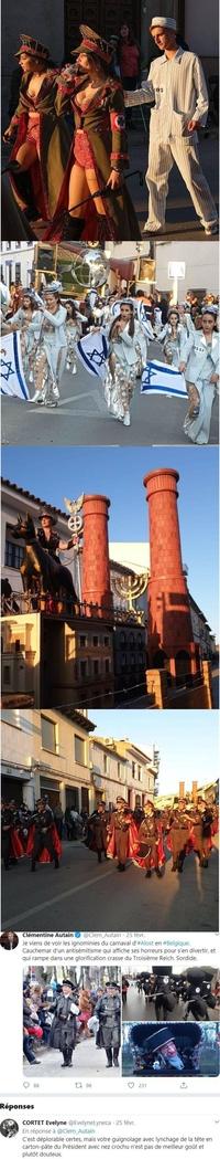 Février 2020 : 2 carnavals européens font polémique avec des a-priori d'antisémitisme