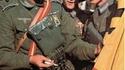 Volontaires espagnols de la division Azul sous l'uniforme allemand pour le front russe