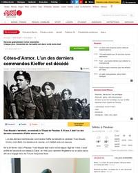 Mort d'Yves Meudal, un des derniers survivants du commando Kieffer