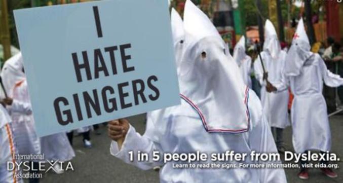 Gingers = Gingembre, roux, rouquins... Niggers = Terme TRES péjoratif pour désigner un afro-américain (c'est quasiment une insulte)