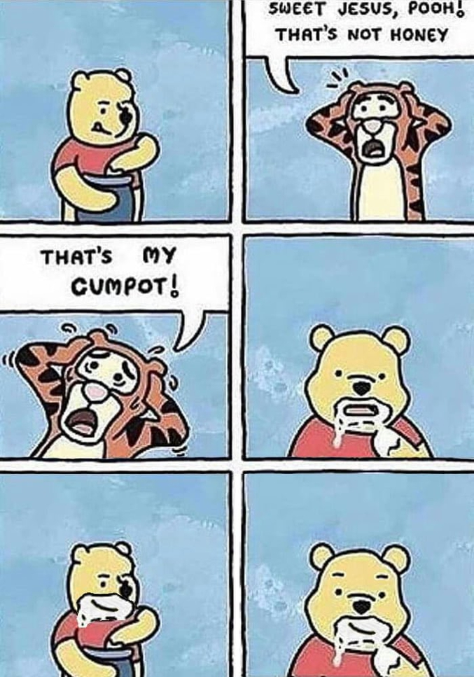 """""""Doux Jésus, Winnie ! Ce n'est pas du miel""""."""
