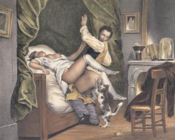 """""""Le chat jaloux"""" de Nicolas François Octave Tassaert"""