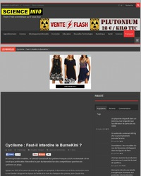 Cyclisme : Faut-il interdire le BurneKini ?