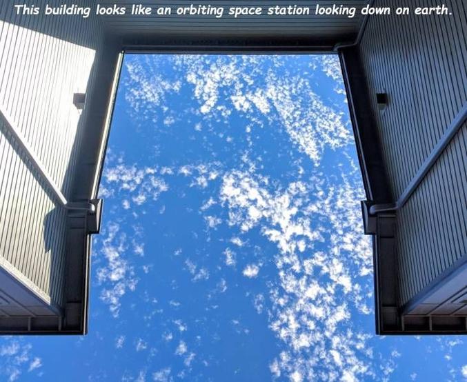 On a l'impression de voir la Terre depuis une station spatiale.