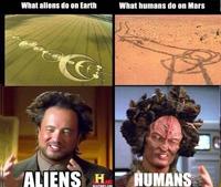 Différence entre humains et martiens