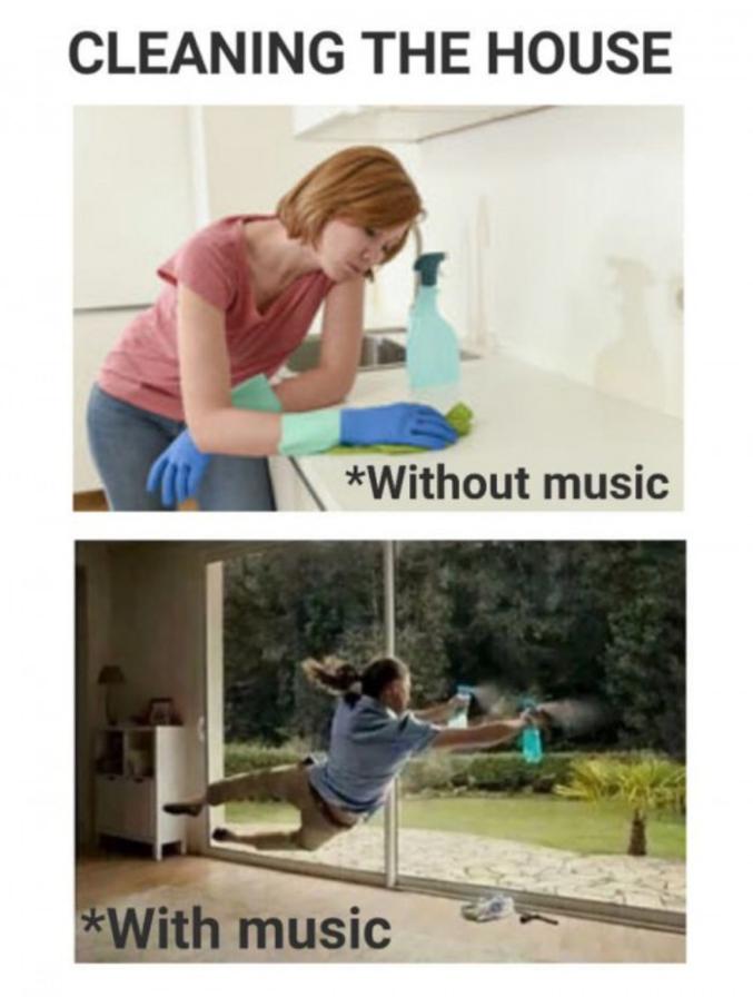 Sans ou avec de la musique.