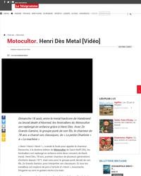 Henri Dès joue au festival métal Motocultor
