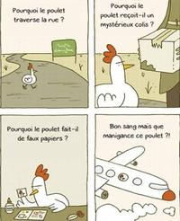 Pourquoi le poulet prend-il l'avion ?
