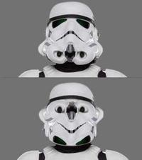 Mets le masque d'un stormtrooper à l'envers...