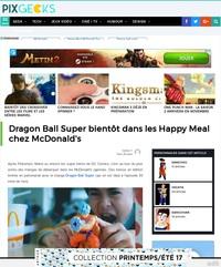 Dragon Ball Super chez McDonald's