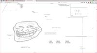 Troll Face sur http://www.yourworldoftext.com/~lelombrik/lelombrik