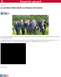 Le secrétaire d'état interdit la chanson de Craonne
