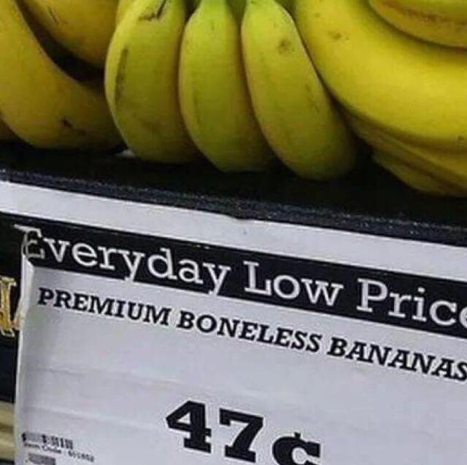 La banane prémium sans os.