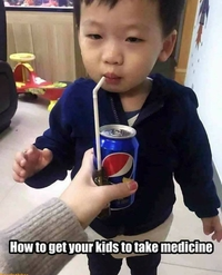 Comment couillonner ton môme pour qu'il prenne son médicament !