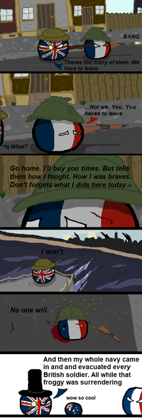 Polandball célèbre la bataille de Dunkerque, terminée le 4 juin 1940