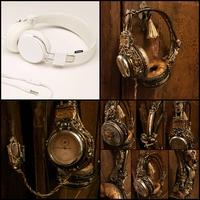 Écouteurs steampunk