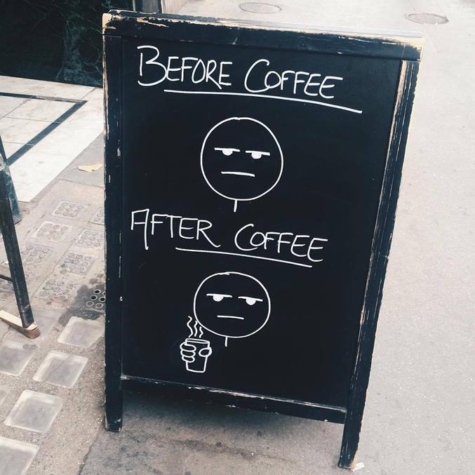 Café avant/après. Ça paraît plutôt sincère...