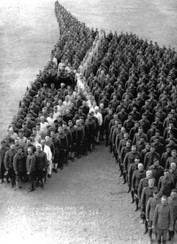Soldats et officiers américains