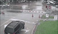 Attention une barrière peut annoncer un train