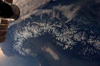 Les Alpes vues depuis l'ISS