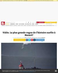 Peut-être la plus grande vague jamais surfée par Hugo Vau