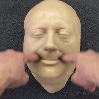 Manipulation d'un masque en silicone