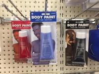 Tubes de peinture pour corps