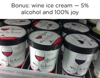 Glace au vin