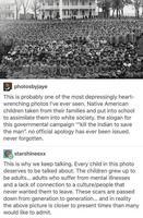Jusqu'en 1973 : Américanisation forcée de tous les enfants des diverses tribus indiennes
