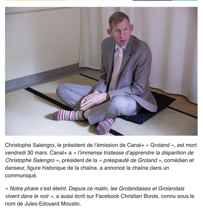 Décès de Christophe Salengro... :'(