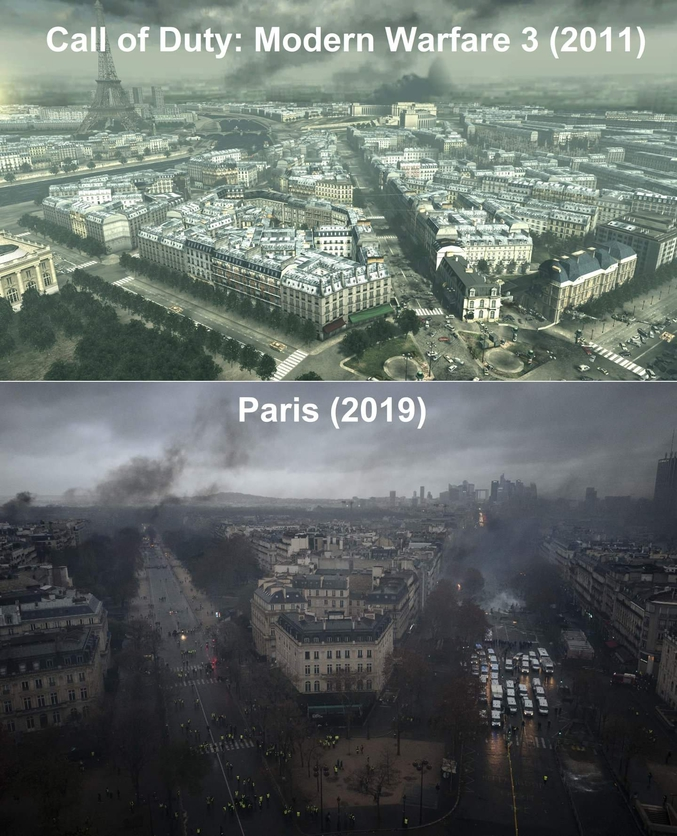 Call of Duty vs Gilets jaunes.