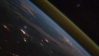 Lancement d'une fusée Soyouz vu depuis la Station Spatiale Internationale