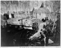 """Le plateau de tournage d'une scène du """"Magicien d'Oz""""."""