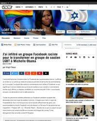 """""""J'ai infiltré un groupe Facebook raciste pour le transformer en groupe de soutien LGBT à Michelle Obama"""""""