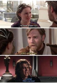 Anakin est une pleureuse