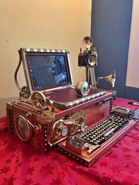 Ordinateur steampunk