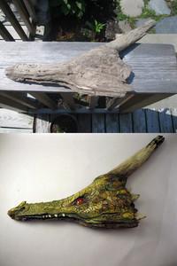 Dragon en bois flotté