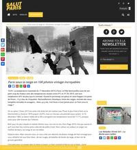 Paris sous la neige en 100 photos vintage