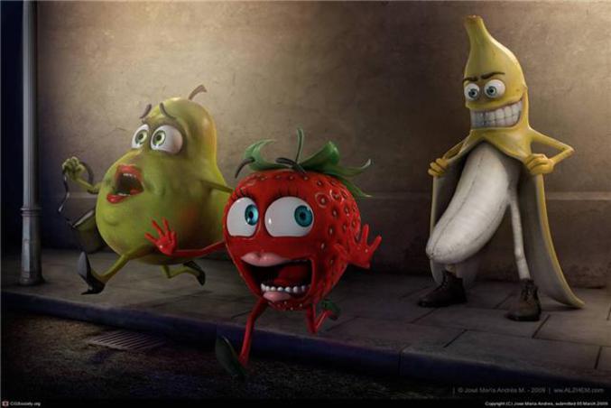 Une banane à l'esprit mal tourné.