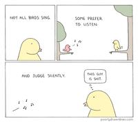 Tous les oiseaux ne chantent pas