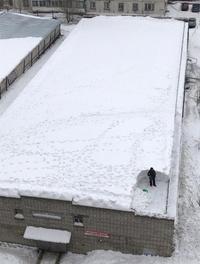 Déneiger le toit