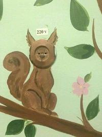 Ecureuil à haute tension