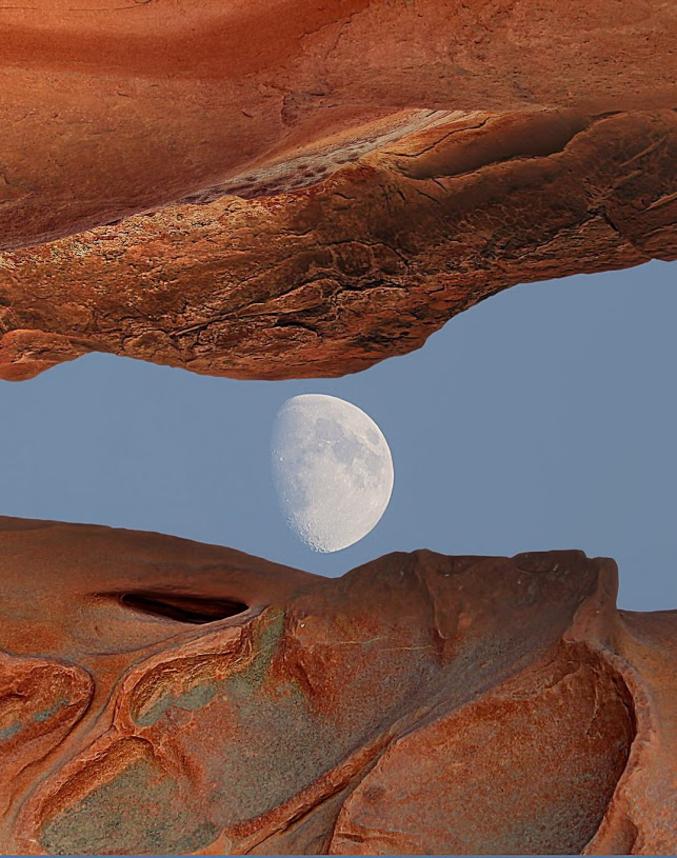 'La Terre a rendez-vous avec la Lune' (photo de Chris Busey)
