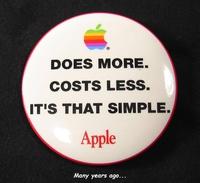 La philosophie d'Apple, quelques années auparavant
